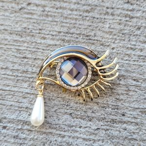 Crystal Eye Brooch